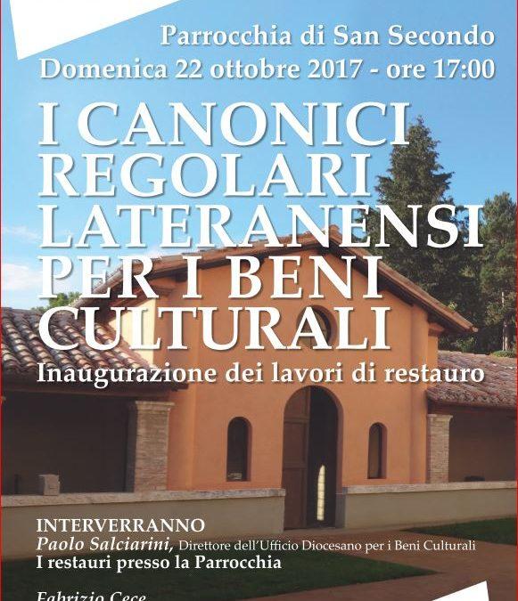 I Canonici Regolari per i Beni Culturali